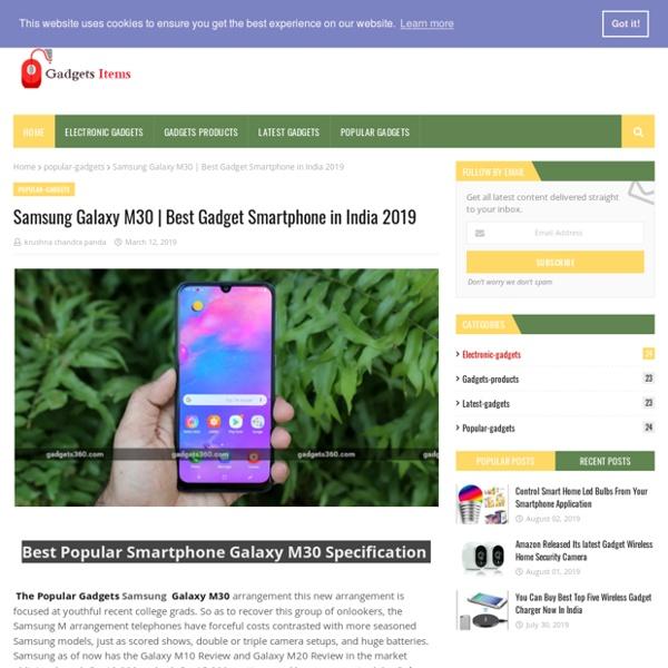 Best Gadget Smartphone in India 2019