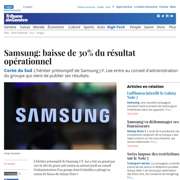 Corée du Sud: Samsung: baisse de 30% du résultat opérationnel - High-Tech