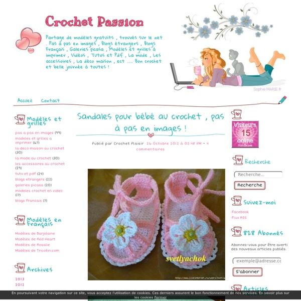 Sandales pour bébé au crochet