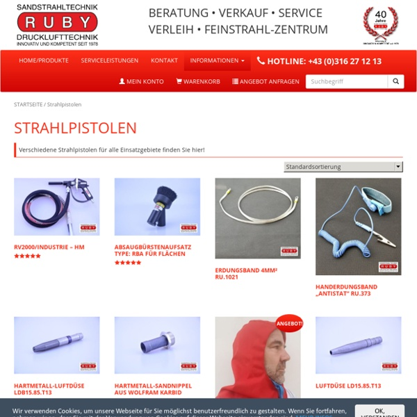 Strahlpistolen aus Graz Ruby Ges.m.b.H. Sandstrahl- und Drucklufttechnik