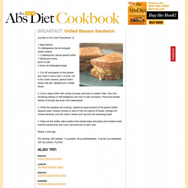 Grilled Banana Sandwich : The New Abs Diet Cookbook : MensHealth.com