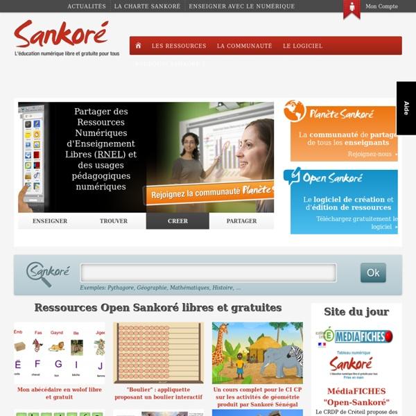 Sankoré - créer, diffsuer, partager des ressources !