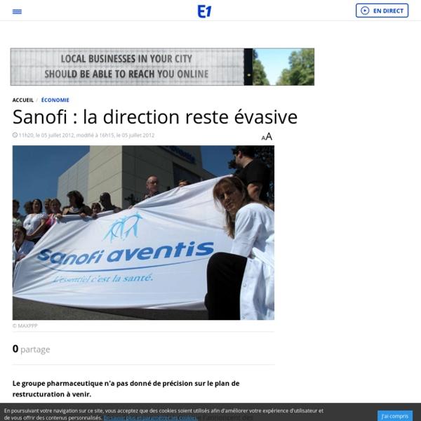 Sanofi : pas de chiffrage sur les licenciements