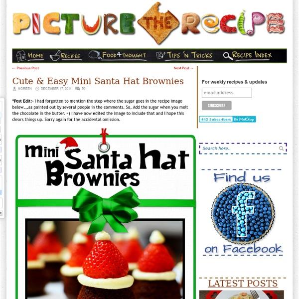 Cute & Easy Mini Santa Hat Brownies