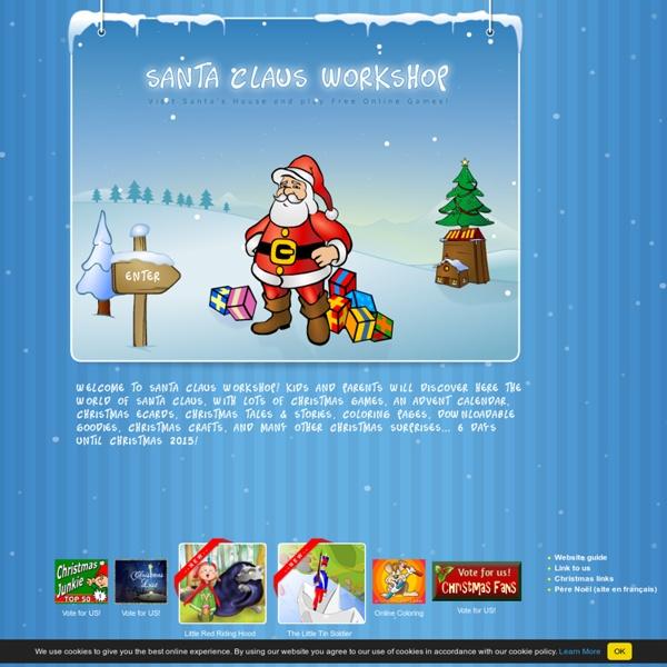SANTA CLAUS and CHRISTMAS GAMES at SantaGames.Net