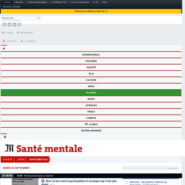 Santé mentale : Toute l'actualité sur Le Monde.fr.