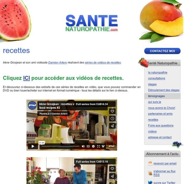 Santé Naturopathie - recettes
