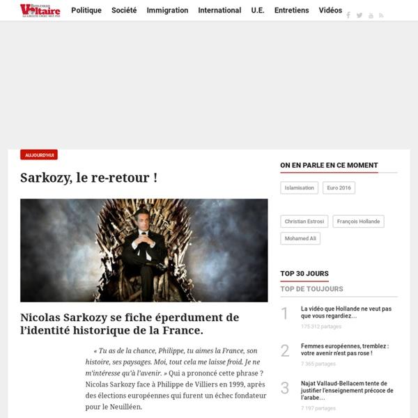 Sarkozy, le re-retour !