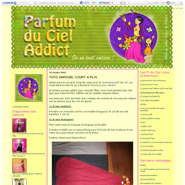 TUTO SAROUEL COURT A PLIS - Parfum Du Ciel Addict