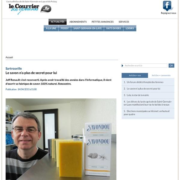 Le savon n'a plus de secret pour lui « Article « Le Courrier des Yvelines