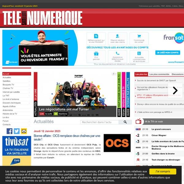 Télé Satellite & Numérique : Le portail de la télévision numérique : Satellite, TNT, ADSL, Câble