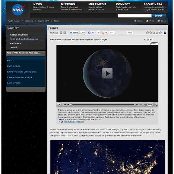 NOAA Satellite Reveals New Views of Earth at Night ...