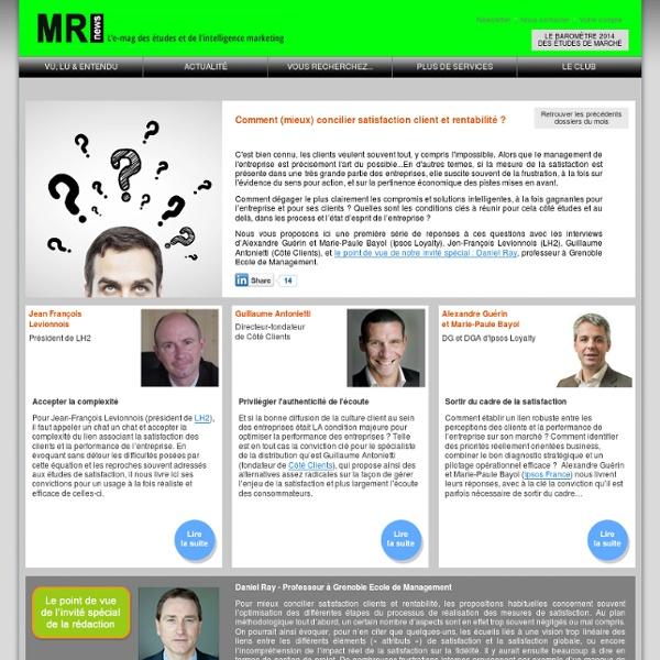 Comment (mieux) concilier satisfaction client et rentabilité ? la vie du conseil et des études marketing
