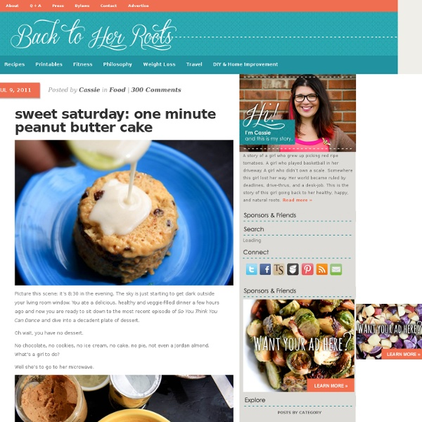 Sweet saturday: one minute peanut butter cake