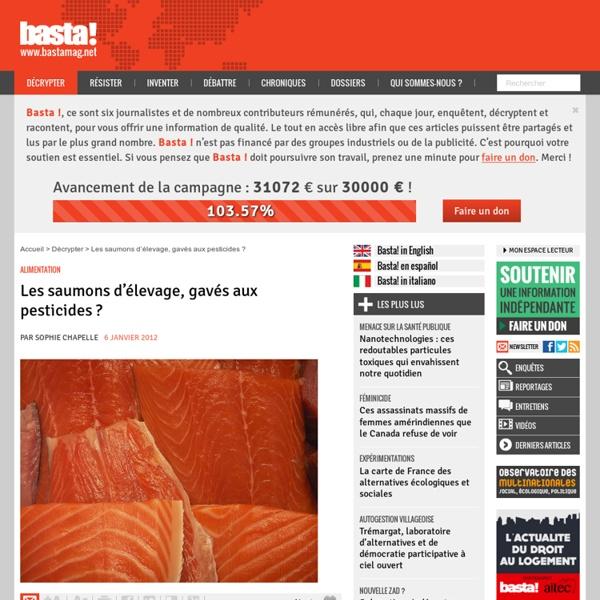 Les saumons d'élevage, gavés aux pesticides