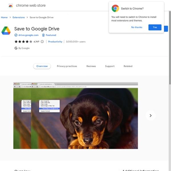 Save to Google Drive:螢幕網頁內容快照存入Google 雲端空間