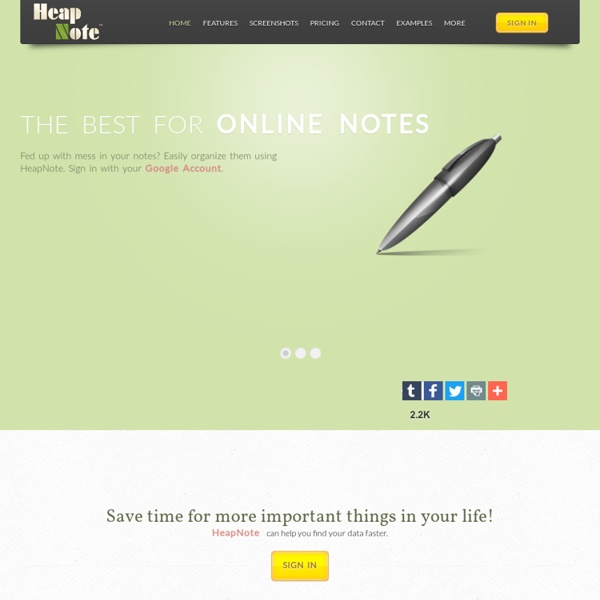 HeapNote - the best online notebook