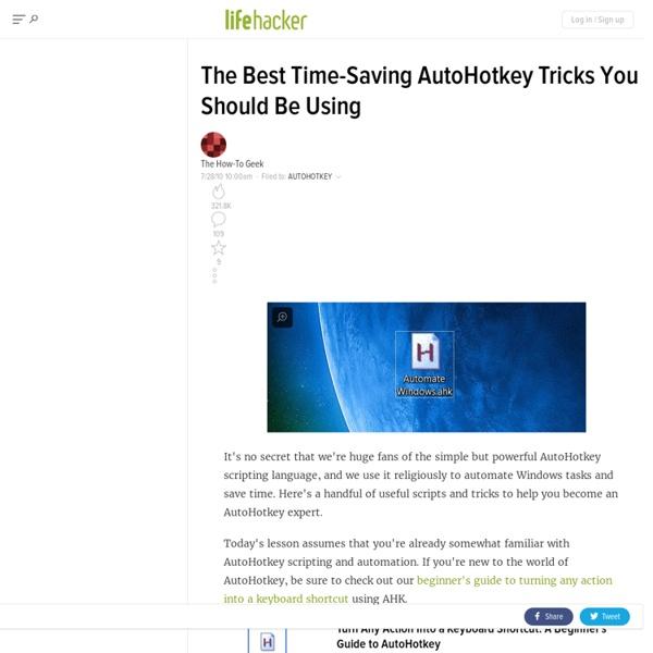 The Best Time-Saving AutoHotkey Tricks You Should Be Using