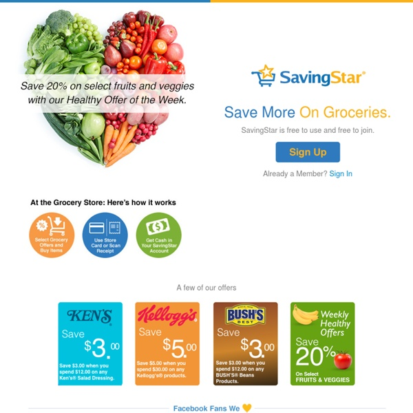 SavingStar - Cash Back On Your Groceries And Online Shopping