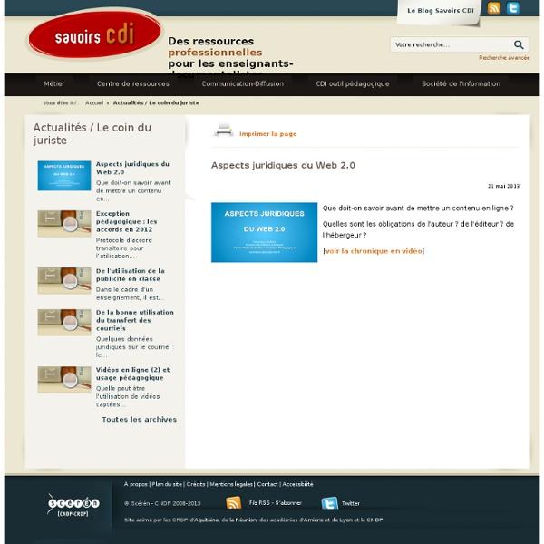 Aspects juridiques du Web 2.0