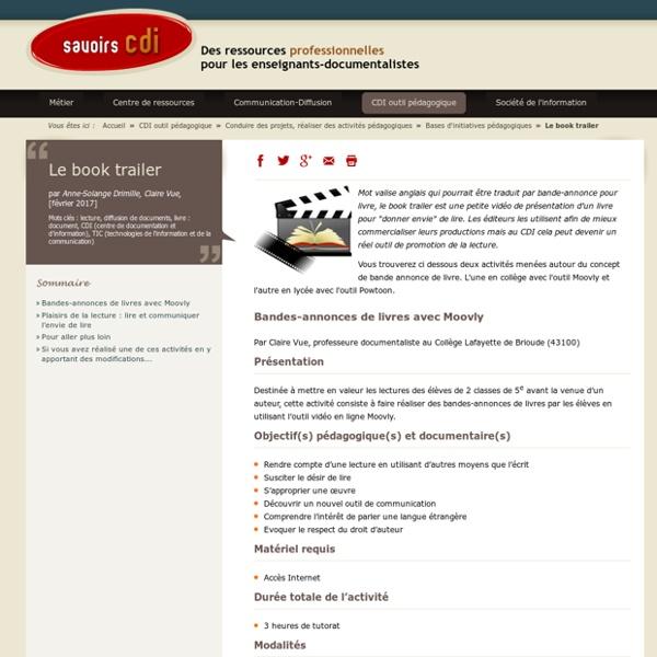 Le book trailer