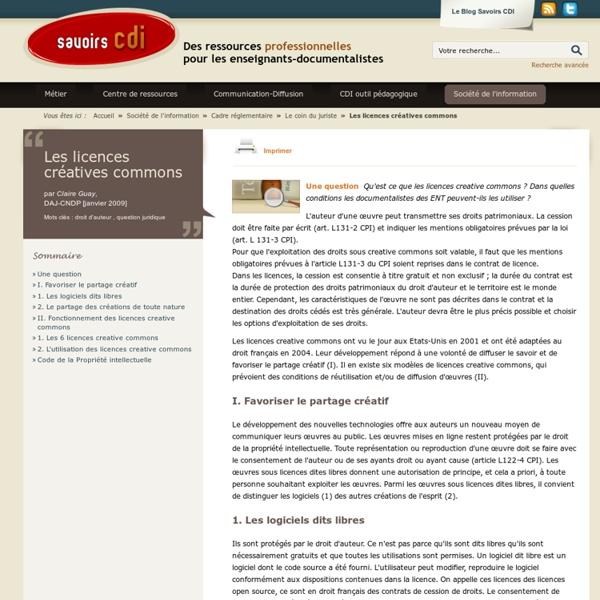 Les licences créatives commons