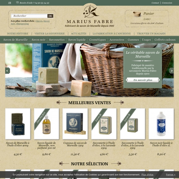 Marius Fabre : Fabricant de savon de Marseille depuis 1900 - Savonnerie Marius Fabre