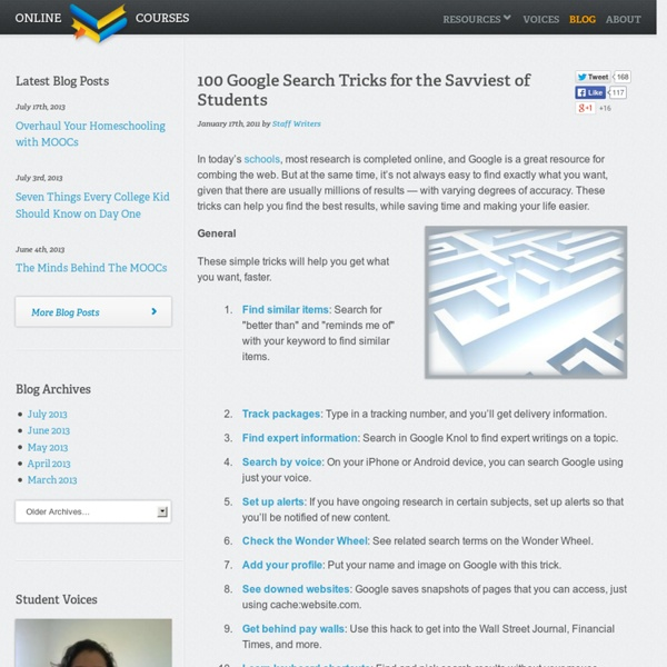 100 Google Search Tricks