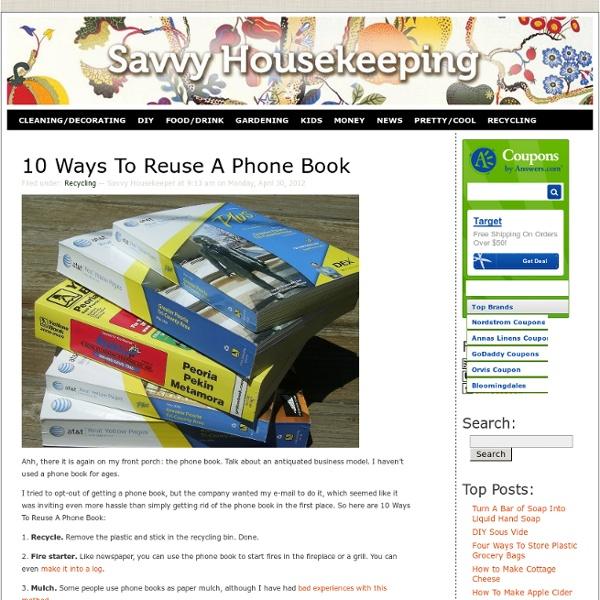 10 Ways To Reuse A Phone Book