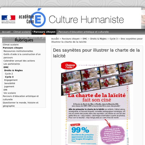 Des saynètes pour illustrer la charte de la laïcité - Culture Humaniste 50