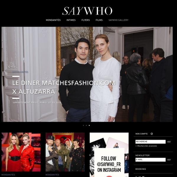 SAYWHO Le site de tous ceux qui font Paris