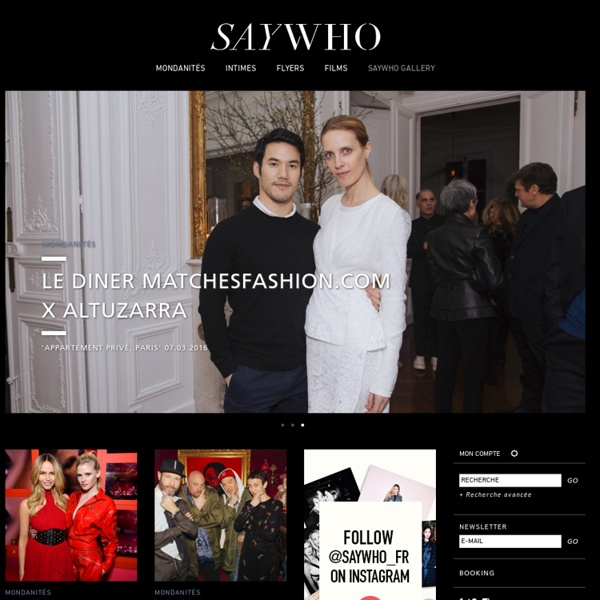 Say Who? Le site de tous ceux qui font Paris