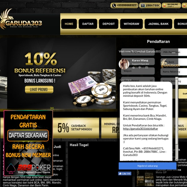 Agen Judi Online - Garuda303