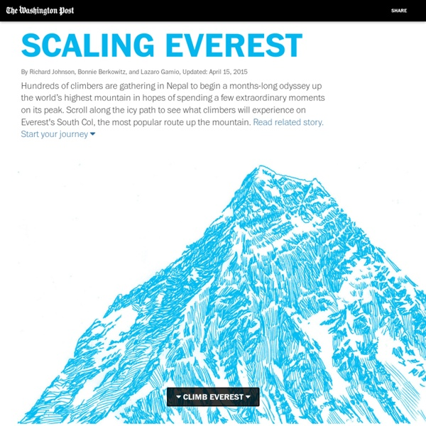 Scaling Mt. Everest: A scroll up the icy path - Washington Post