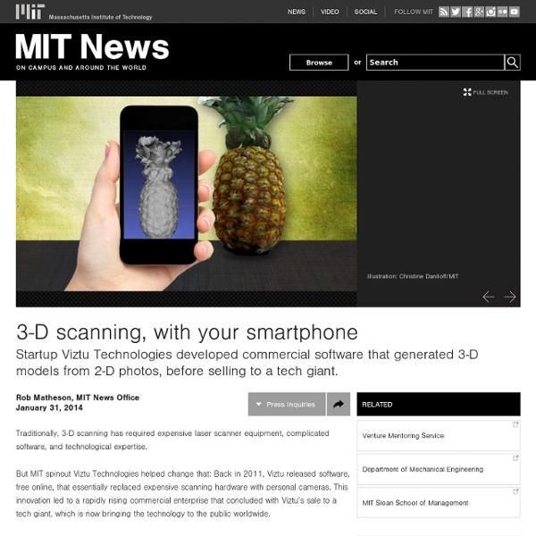 3-D scanning, with your smartphone