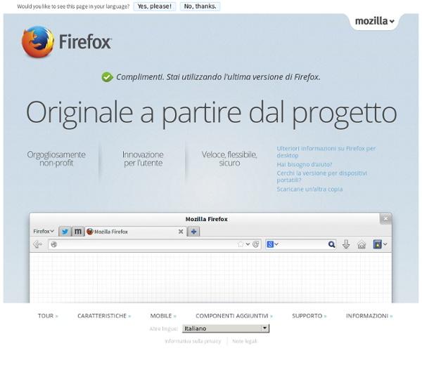 Scarica Firefox — Il browser web gratuito — Mozilla