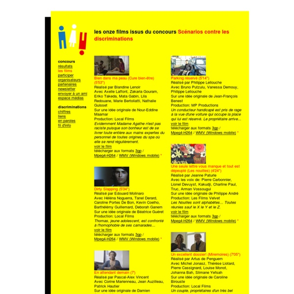 Les films issus du concours Scénarios contre les discriminations