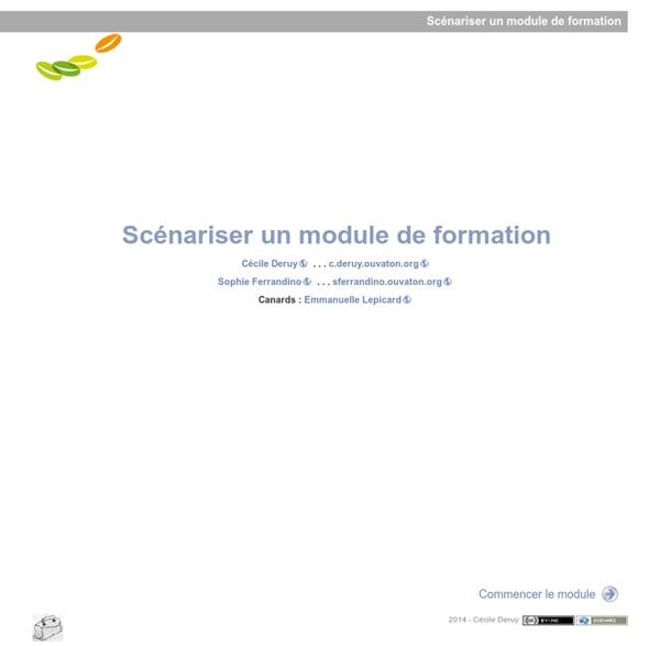 Module de Fo - Scénariser un module de formation