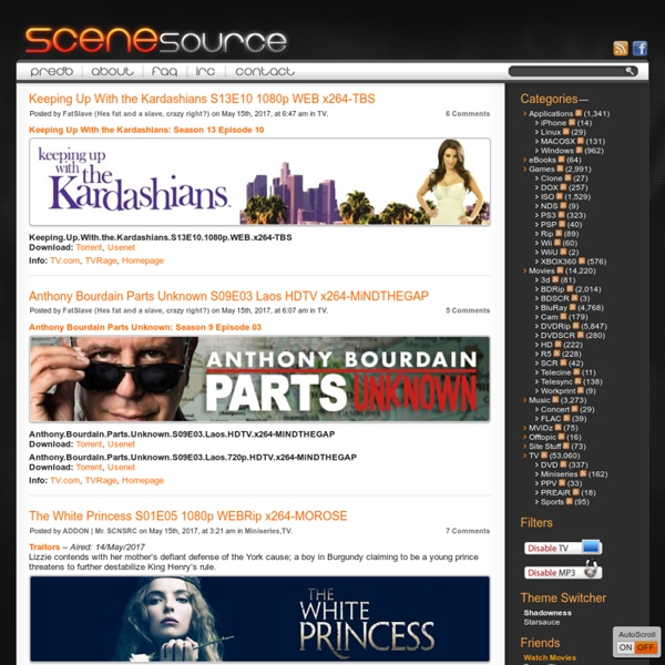 SceneSource - Your source for Games, Movies, Music and more.