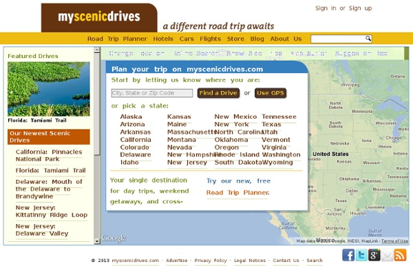 Find your next scenic drive on myscenicdrives.com