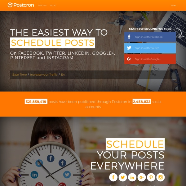 Schedule your posts on Facebook and Twitter with Postcron