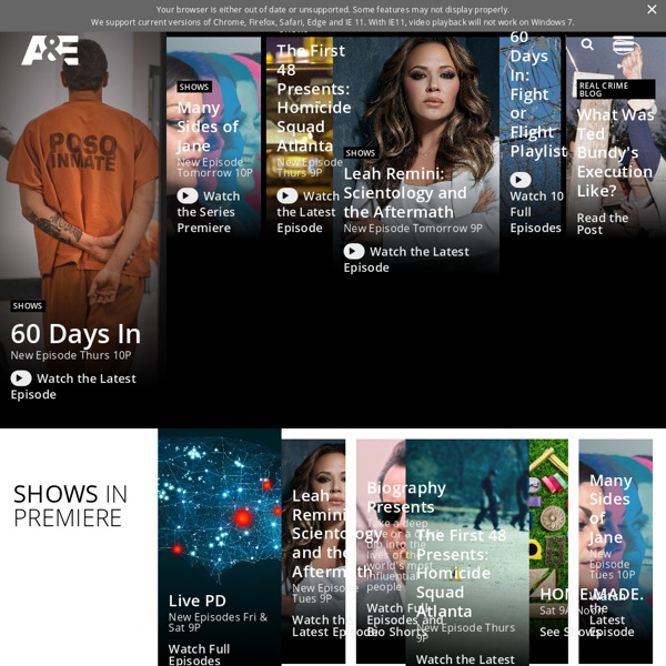 A&E TV - Schedules, Shows, Videos, Full Episodes