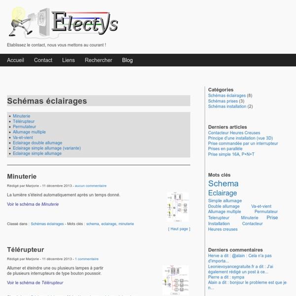 Schémas électriques d'éclairage (ELECTYS)