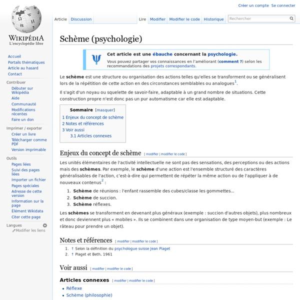 Schème (psychologie)