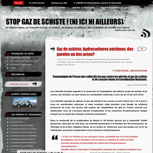 STOP GAZ DE SCHISTE !