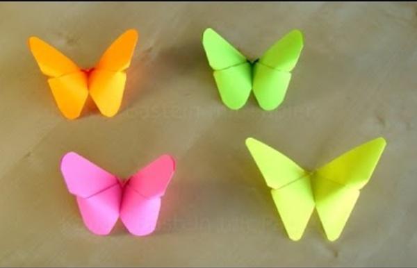 Basteln: Origami Schmetterling falten mit Papier / Bastelideen / Muttertag DIY