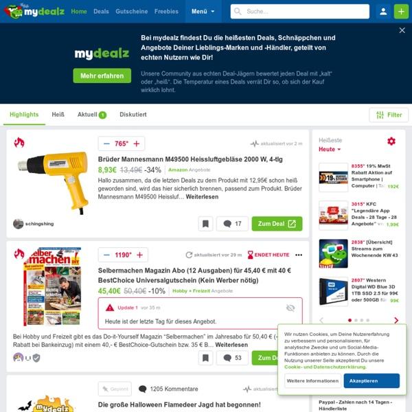 MyDealZ.de — Schnäppchen, Gutscheine und Angebote mit Z