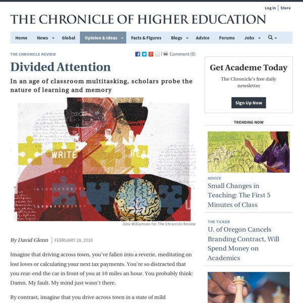 Scholars Turn Their Attention to Attention - The Chronicle Review