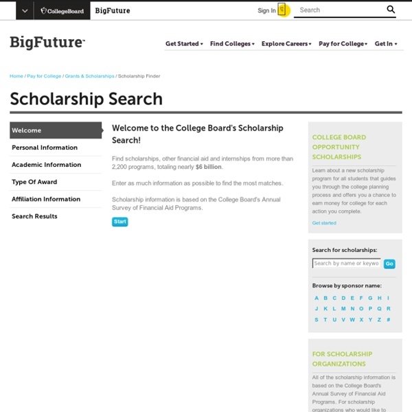 College Scholarship Search - Find scholarships for students from over 2,200 programs