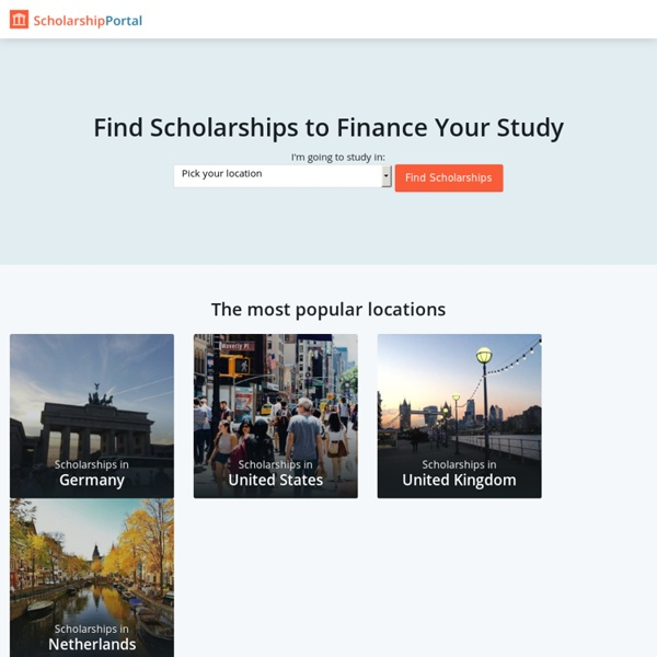 Find Scholarships Worldwide - ScholarshipPortal.com